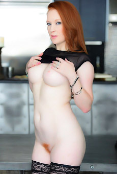 Redhead Babe Lucy Ohara Likes Playing with her Red Dildo