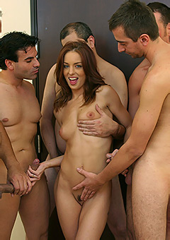Riley Shy Gives Deep Throat Blowjobs And Wears Bukkake